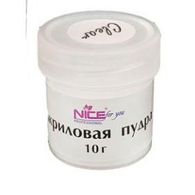 Акриловая пудра прозрачная Acrylic Powder  Nice for you, 10 г