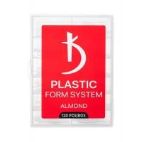 Верхні форми для моделювання нігтів ALMOND Kodi Professional (120 шт. в уп)