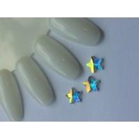 Стразы crystal AB звезда (упаковка 6шт.)