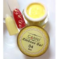 3D Emboss Gel GD COCO 004 (желтый) гель-паста 8мл