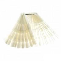 Демонстрационная палитра-веер ТРОЙНАЯ на кольце, 50 типс (цвет натуральный)