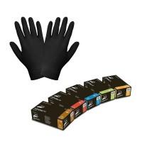 Перчатки нитриловые неопудренные черные NITRYLEX BLACK 100 штук