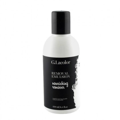 Питательная эмульсия для снятия гель-лака Removal Emulsion Nourishing remover G.Lacolor, 250мл