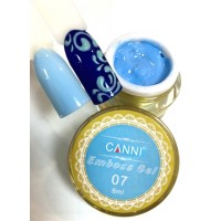 3D Emboss Gel GD COCO 007 (голубой) гель-паста 8мл