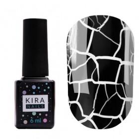 Гель-лак Kira Nails Crack Effect Black, 6 мл