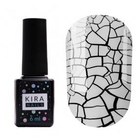 Гель-лак Kira Nails Crack Effect White, 6 мл