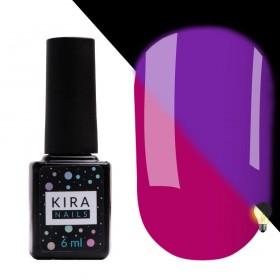 Гель-лак Kira Nails FLUO 008 (ягідний, флуоресцентний), 6 мл