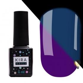 Гель-лак Kira Nails FLUO 009 (фіолетовий, флуоресцентний), 6 мл