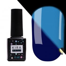 Гель-лак Kira Nails FLUO 010 (синій, флуоресцентний), 6 мл