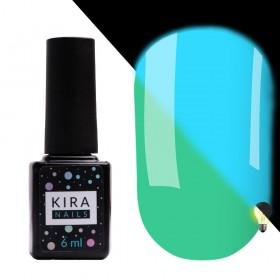 Гель-лак Kira Nails FLUO 011 (м'ятний, флуоресцентний), 6 мл
