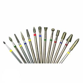 Алмазные насадки для обработки искусственных и натуральных ногтей
