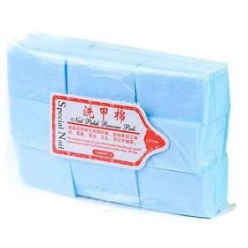 Серветки безворсові щільні, блакитні, 600 шт. для манікюра