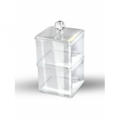 Органайзер косметический прозрачный (двухуровневый квадратный) KODI