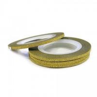 Лента для ногтей золотая, широкая, 2 мм