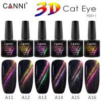 "3D Top Coat Cat Eye\Финишное покрытие 3D ""Звездное небо"" CANNI 7,3 мл"