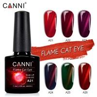 """Гель-лак """"Oгненный кошачий глаз"""" CANNI 7,3 мл"""