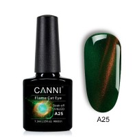 "Гель-лак ""Oгненный кошачий глаз"" flame cat eye (зеленый) №А25 CANNI 7,3 мл"