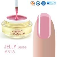 Canni UV Builder Gel Light Pink полупрозрачный №316, 15 мл
