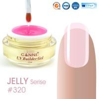 Canni UV Builder Gel Pink Clear полупрозрачный №320, 15 мл