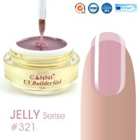Canni UV Builder Gel Soft Pink полупрозрачный №321, 15 мл