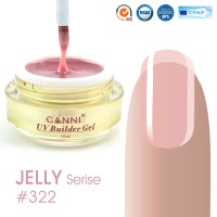 Canni UV Builder Gel Cover Pink полупрозрачный №322, 15 мл