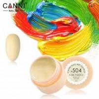 Гель-краска №504 CANNI (бледно-жёлтая), 5 мл