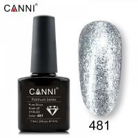 """Гель-лак """"Жидкая фольга"""" №481 CANNI (серебро), 7,3 мл"""