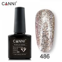 """Гель-лак """"Жидкая фольга"""" №486 CANNI (розовое золото), 7,3 мл"""