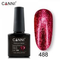 """Гель-лак """"Жидкая фольга"""" №488 CANNI (тёмно-красный), 7,3 мл"""