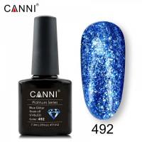 """Гель-лак """"Жидкая фольга"""" №492 CANNI (голубой), 7,3 мл"""