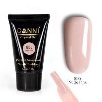 Кристал-гель Nude Pink №855 (розовый нюд) PolyGel CANNI, 45 мл