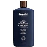 Мужской 3 в 1 Шампунь, Кондиционер и Гель для Душа / CHI Esquire MEN 3-in-1 Shampoo, Conditioner, Bodywash, 30 мл
