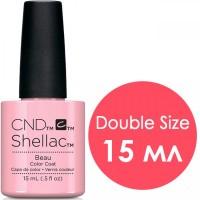 Гель-лак CND Shellac Beau (полупрозрачный розовый с нежным блеском), 15 мл