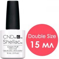 Гель-лак CND Shellac Cream Puff (белый), 15 мл