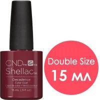 Гель-лак CND Shellac Decadence (цвет спелой вишни без перламутра, эмаль), 15 мл