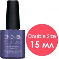 Гель-лак CND Shellac Purple Purple (ярко-фиолетовый с неоновым отливом), 15 мл