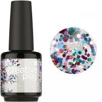 Гель-лак CND Creative Play Glittabulous #449 (прозрачный с разноцветными голографическими блёстками), 15 мл