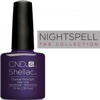 Гель-лак CND Shellac Eternal Midnight (фиолетово-синий с шиммером), 7,3 мл