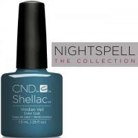 Гель-лак CND Shellac Viridian Veil (цвет морской волны с перламутром), 7,3 мл