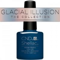 Гель-лак CND Shellac Winter Nights (глубокий синий, эмаль), 7,3 мл