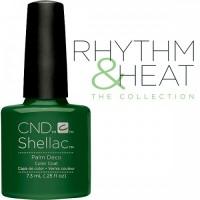 Гель-лак CND Shellac Palm Deco (изумрудный тёмно-зелёный), 7,3 мл