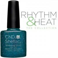 Гель-лак CND Shellac Shimmering Shores (тёмно-синий с глиттером), 7,3 мл
