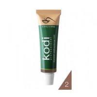 Краска для бровей и ресниц натурально-коричневая  Kodi Professional 15 мл