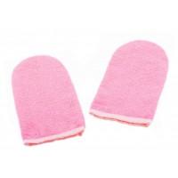 Варежки махровые для парафинотерапии, розовые