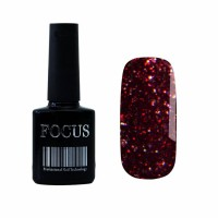 Гель-лак FOCUS premium №004 (малиново-красный с блёстками), 8 мл