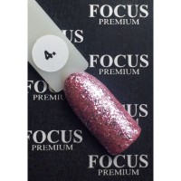 Гель-лак FOCUS premium TITAN №004 (светло-розовые блёстки), 8 мл