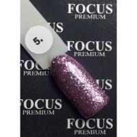 Гель-лак FOCUS premium TITAN №005 (розово-фиолетовые блёстки), 8 мл