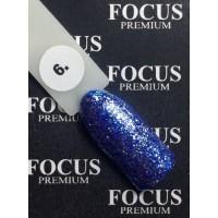 Гель-лак FOCUS premium TITAN №006 (ярко-синие блёстки), 8 мл