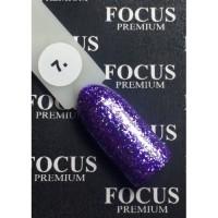 Гель-лак FOCUS premium TITAN №007 (сиренево-фиолетовые блёстки), 8 мл