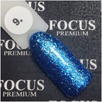 Гель-лак FOCUS premium TITAN №009 (сапфировые блёстки), 8 мл